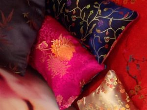 Image of pillow available at the Japanese Suite